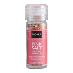 NOMU Himalayan Pink Salt Grinder: Pure and unrefined from the Himalayas, Pink Salt is perfect for use at all stages of cooking and as a table condiment to enhance the natural flavour of your food. South African Recipes, Himalayan Pink Salt, Coffee Bottle, Natural Flavors, Hot Chocolate, A Table, Cocoa, Vanilla, Pure Products