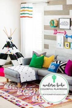 10 Amazing Colorful Playroom Ideas That You'll LOVE | Kate Decorates