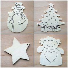 Vánoční tvoření s dětmi - Mozaika - návod | Moje mozkovna Christmas Ornaments, Holiday Decor, Blog, Home Decor, Decoration Home, Room Decor, Christmas Jewelry, Blogging, Christmas Decorations