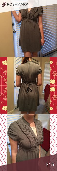 Gray Ruffley Dress So soft and comfy! 😊 Ties in the back. Adorable :3 Speechless Dresses