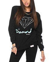 Diamond Supply Co. OG Script Black Crew Neck Sweatshirt
