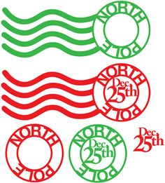 Silhouette Design Store - View Design #35659: 'north pole' postmarks