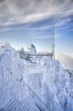Summit of Zugspitze Mtn/ Germany- possible to see Germany, Austria, Switzerland and Italy from here