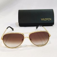 WILDFOX AirFox aviator sunglasses In new condition. Comes with case, box and cleaning cloth. Wildfox Accessories Sunglasses