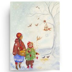 Waldorf Paintings Winter Nature Table by BelovedYou on Etsy, $41.00
