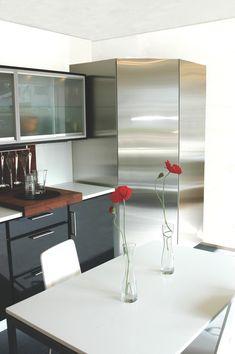 Réfrigérateur d'angle Norcool version inox Decor, Table, Furniture, Kitchen, Home Decor, Kitchen Cabinets