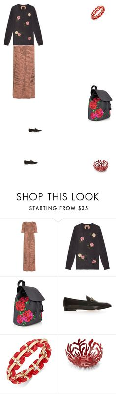 """Grace"" by zoechengrace ❤ liked on Polyvore featuring Raquel Allegra, N°21, Gucci, Charter Club and Alessi"
