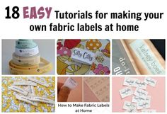 18 easy tutorials for making your own fabric labels listed in this post. Making fabric labels for clothing, quilts or other handmade items is really easy.
