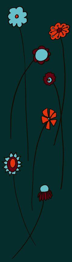 """Grafica di Alle Lofoten: """"Little Marigold"""" #pattern #thecolorsoup #flowers #colors #textile #design #style #texture"""