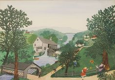 The Oaks © Grandma Moses Properties Co., New York 1956 by Grandma Moses from Galerie St. Etienne