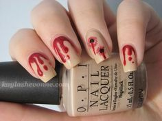 Click for the Ten Scariest Nail Art Designs for Halloween! scary nails, halloween, diy, vampire