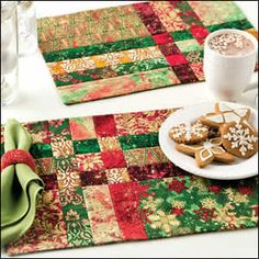 Stretched Nine-Patch Place Mats from Quilter's World December 2012. Order here: http://www.anniescatalog.com/detail.html?prod_id=97041