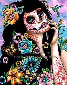 31 por CIENTO Gardenia arte impresión 5 x 7 8 x 10 por NeverDieArt
