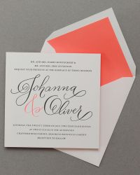 Custom Classic Letterpress Wedding Invitations by Cheree Berry Paper