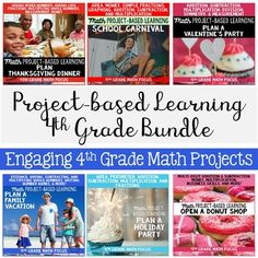 Check out this bundle of amazing Math project-based learning (PBL) activities for 4th grade math! These projects will help your students practice area, addition, subtraction, multiplication, and more. Each project will get them out of their seats, happily practicing Math in a real-life situation!