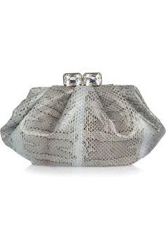 Valentino Jewel-clasp watersnake clutch NET-A-PORTER.COM