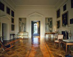Living room, Thomas Jefferson's Monticello, National Historic Landmark, Charlottesville, Virginia