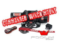Warn Can Am Commander Winch Mount #1SxS #PodiumSxS.com #CanAm #BRP #Commander #UTV #SxS