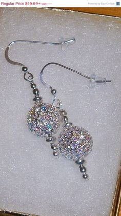Mothers Day Specials 925 Sterling Silver Swarovski Crystal AB Sparkle Dangle Earrings