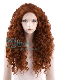 """18""""-28"""" Long Curly Reddish Brown Lace Front Wig - with some modifications, maybe a dye, this could work for my Merida cosplay"""