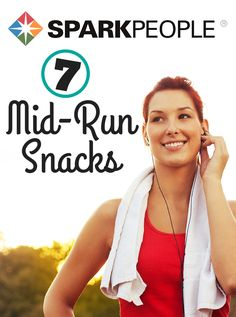 7 Good Mid-Run Snacks | via @SparkPeople #running #health #wellness #snacks #healthy #workout #running #racefuel