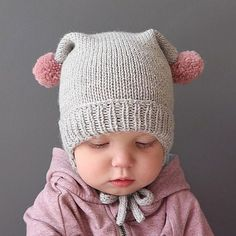 Modèle Bonnet Bébé Bobby Phil Rapido - M - Diy Crafts - maallure Baby Hat Knitting Pattern, Baby Hat Patterns, Baby Hats Knitting, Knitting For Kids, Knitted Hats, Crochet Baby, Knit Crochet, Halloween Crochet Patterns, Diy Crafts Knitting