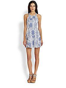 a7f8a61ef9c Parker - Leona Lace-Print Halter Dress Lace Print