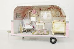Cinderella Moments: Life is an Adventure Custom Trailer Dollhouse