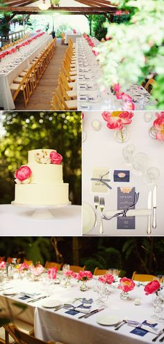 From the colors to the pergola reception, this looks so similar to the wedding Zach and I am planning!