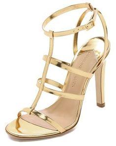 e94b24e05d6 Charline De Luca Beat Metallic Sandals - All Gold
