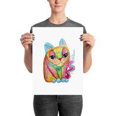 GATO. Poster » Litca Design My Design, Artwork, Poster, T Shirt, Tops, Women, Fashion, Supreme T Shirt, Moda