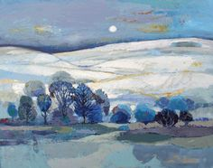 Quiet Blue Layers, oil on canvas, 24 x 30 inches. Kirsty Wither.