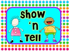 Show and tell on pinterest book reports public speaking activities