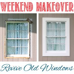 Weekend makeover: revive old windows via www.theshabbycreekcottage.com Shed Makeover, Old Windows, Home Fix, Window Boxes, Farmhouse Style, Glass Garden, Interior And Exterior, Ideas, Bring It On