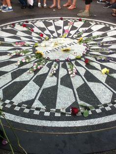 Strawberry Fields Memorial.. #JohnLennon #CentralPark #NYC