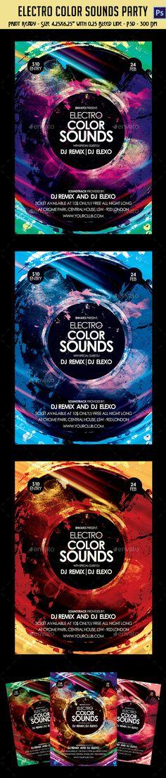 Electronic City Mix Sounds Party Flyer
