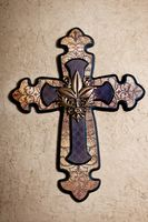 FC-1263 - CROSS GOLD AND BROWN WITH LEAVES