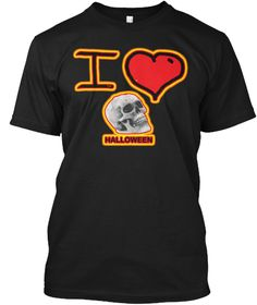 I Love Halloween T Shirt Black T-Shirt Front