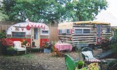 sisters on the fly - what fun to fix up an old trailer in a girly way and take off with a bunch of gals...