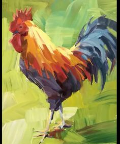 What is Your Painting Style? How do you find your own painting style? What is your painting style? Acrylic Painting For Beginners, Acrylic Painting Techniques, Beginner Painting, Painting Tips, Rooster Painting, Rooster Art, Rooster Images, Chicken Painting, Chicken Art