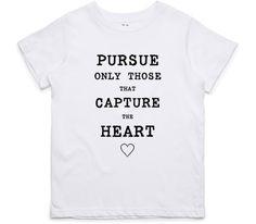 El Cheapo Capture the Heart (Black) Toddler White T-Shirt