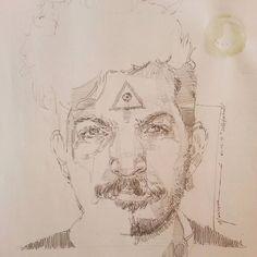 #portrait #paint #painting #drawing #art #artist #sketch #instadraw #instaart #selfportrait #adıyaman #Eskiz #illustrator #pau #adü #pencil