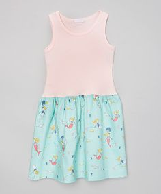 Look at this Pink & Blue Mermaid Tank Dress - Infant, Toddler & Girls on #zulily today!