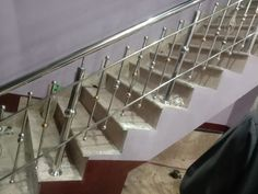Steel Stair Railing, Stair Railing Design, Steel Stairs, Steel Art, Grill Design, Track Lighting, Ceiling Lights, Home Decor, Staircases