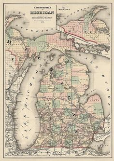 10 Best Map of Michigan images