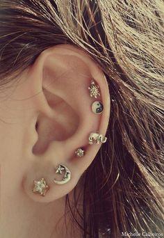 Earings #earrings #Piercings, turtle moon