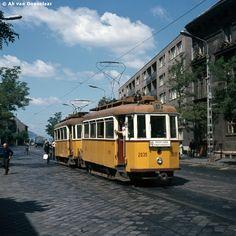 Újpest, Árpád út 1974 Budapest Travel, Old Pictures, Historical Photos, Hungary, Trains, Historical Pictures, Antique Photos, Old Photos, History Photos