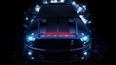 Blue Ford Mustang Shelby GT500 Car Picture HD Wallpaper