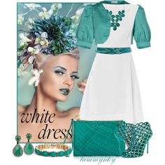 """~White Dress~"" by tammynky on Polyvore"