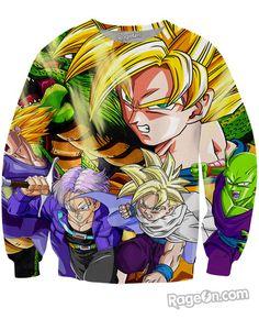 Dragon Ball Z Warriors Crewneck Sweatshirt